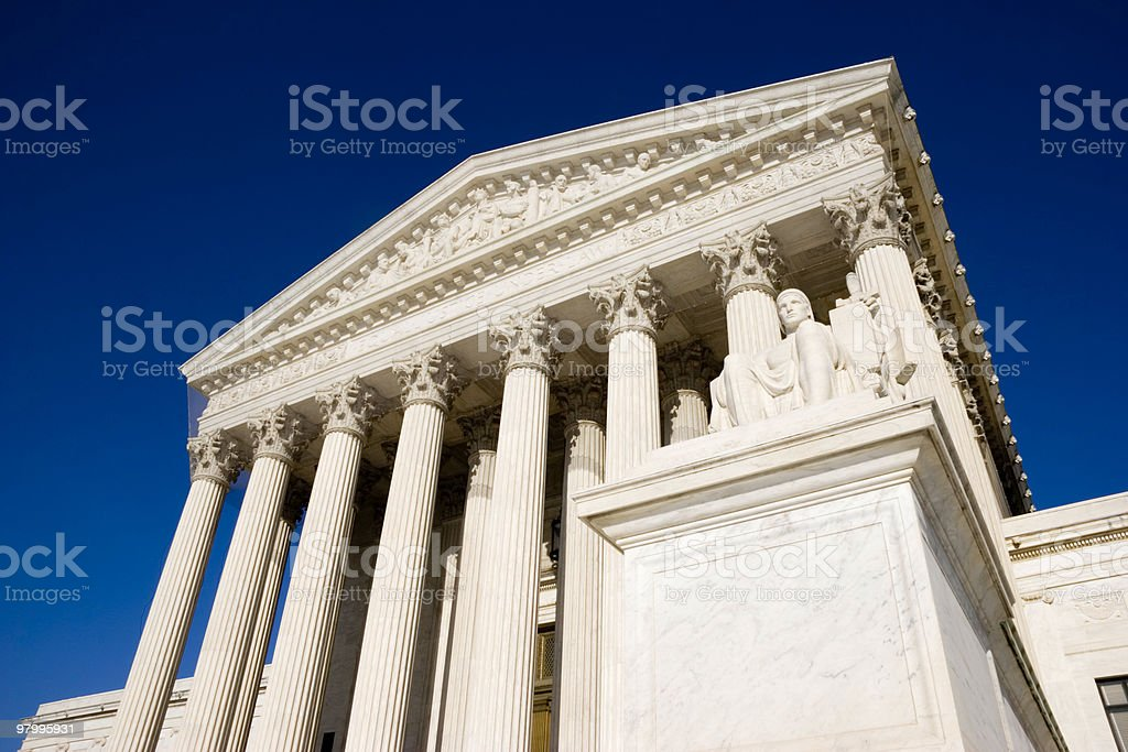 Front of the U.S. Supreme Court royalty-free stock photo