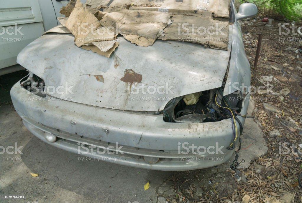 Unused scrap vehicle