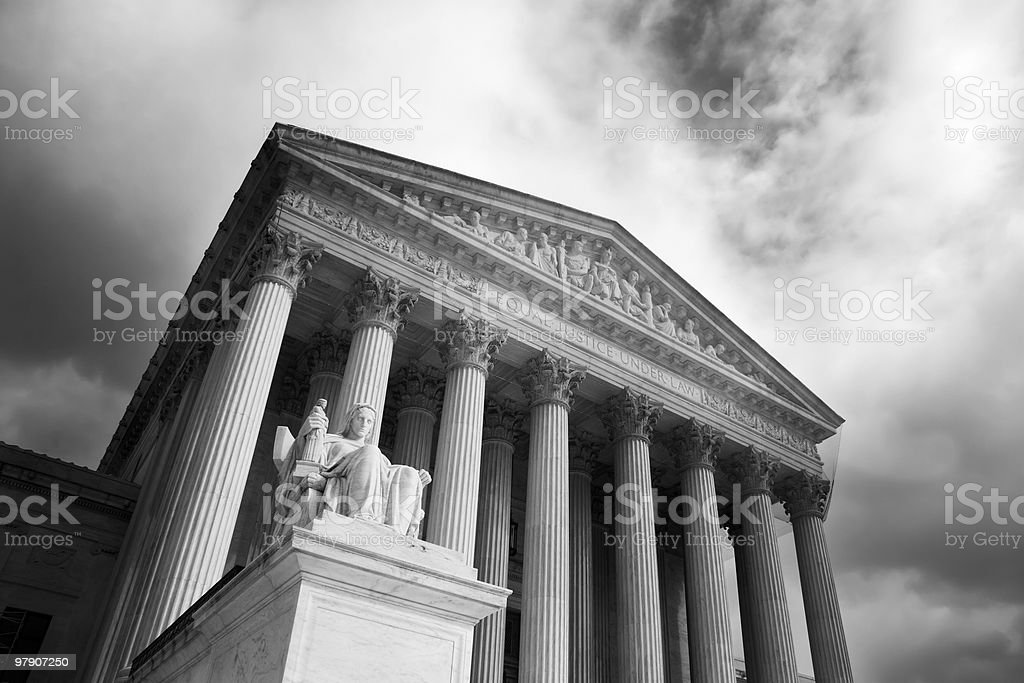 Front of U.S. Supreme Court royalty-free stock photo