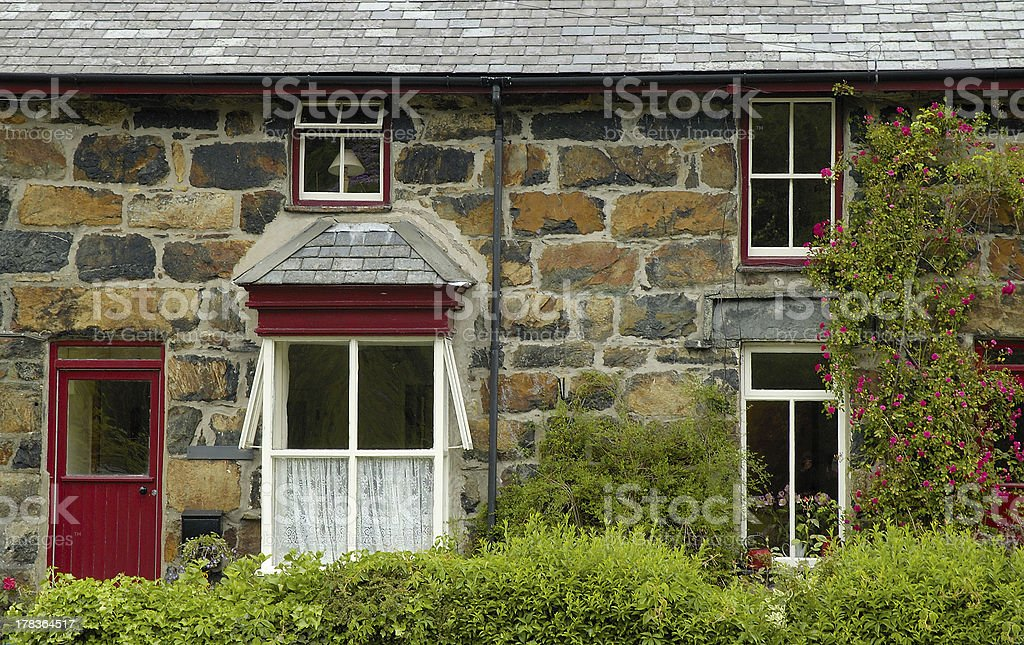 front of welsh house royalty-free stock photo
