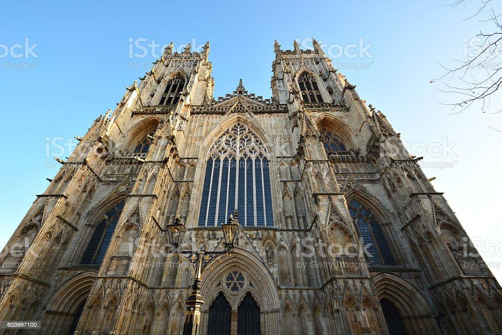 front of York Minster ,York,UK stock photo