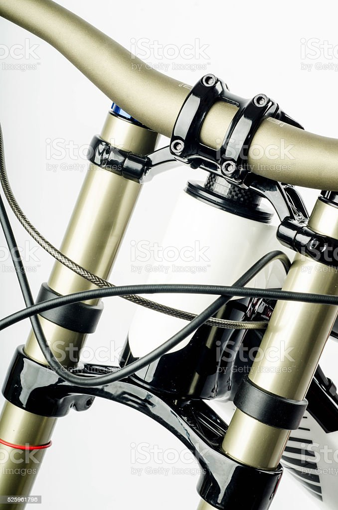Front Part of a  Downhill Bike Frame stock photo