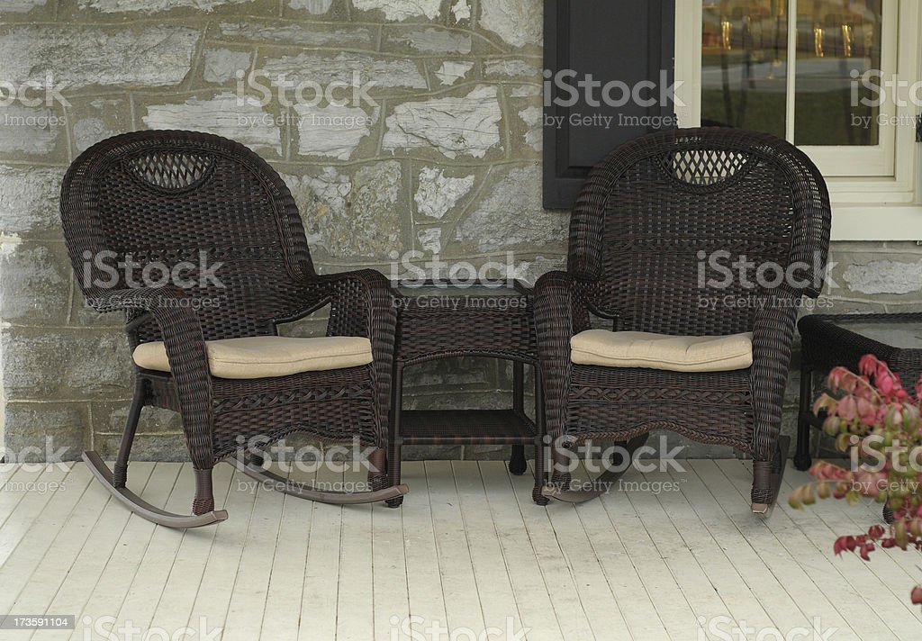 front porch stock photo