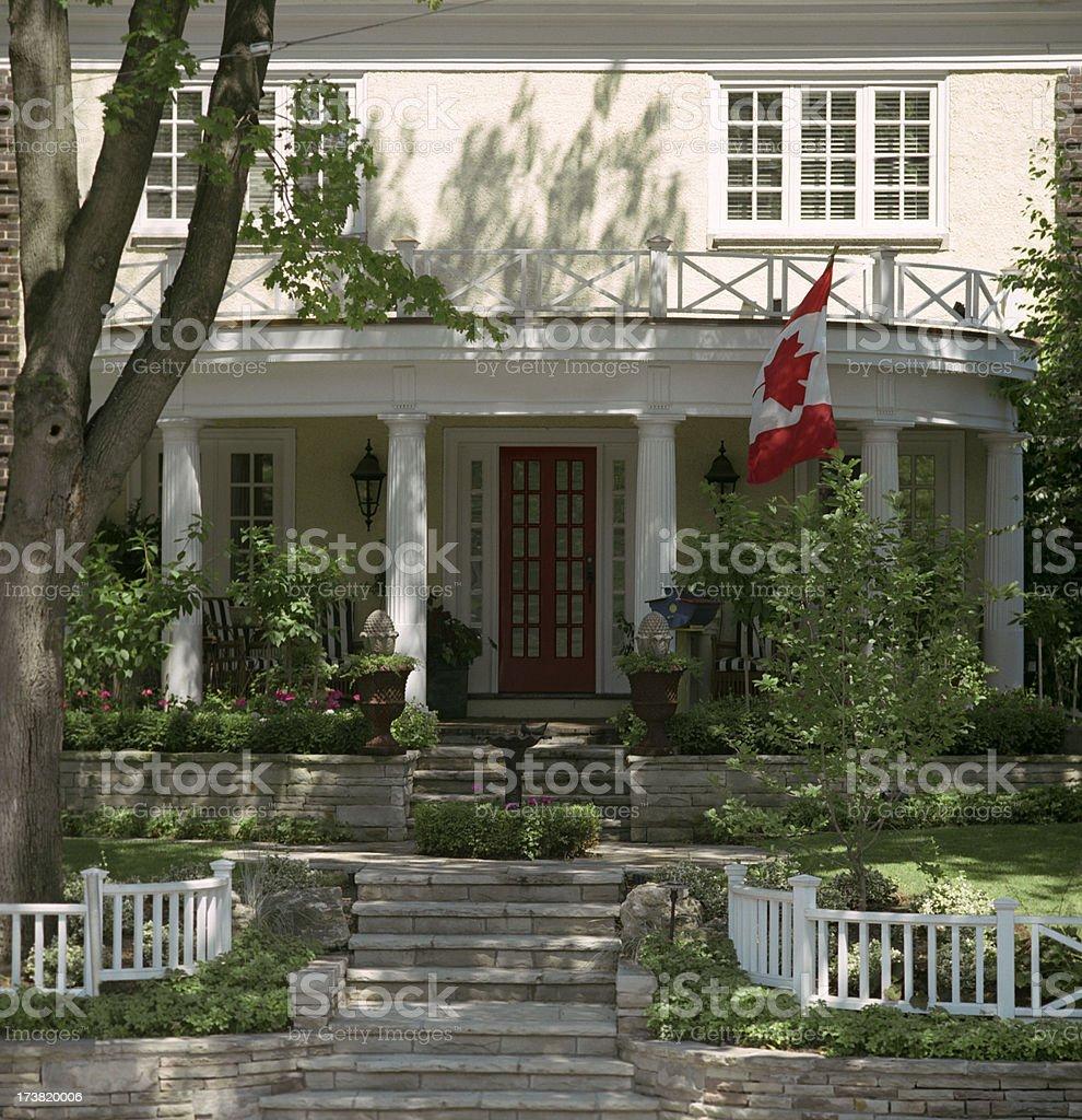 Front Porch com bandeira - foto de acervo