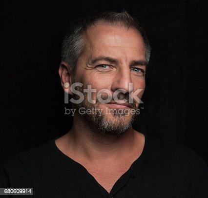 istock Front Portrait of a beard man 680609914