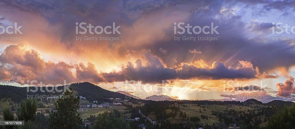 Front Range Foothills Sunset stock photo