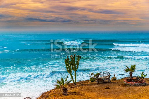 Front row seats on the edge of a cliff down in Baja Mexico.