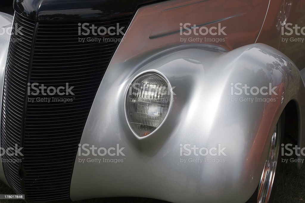 Front side of a classic car royalty-free stock photo