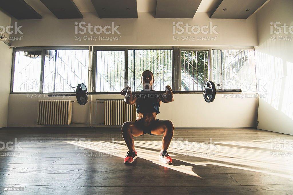 Front squat stock photo