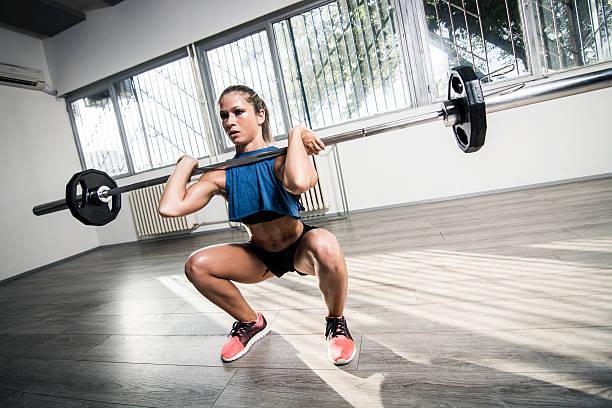squat frontal - foto de stock