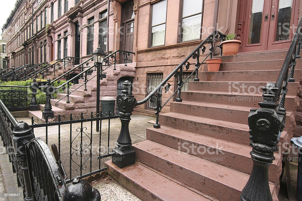 Front Stoops in Brooklyn royalty-free stock photo