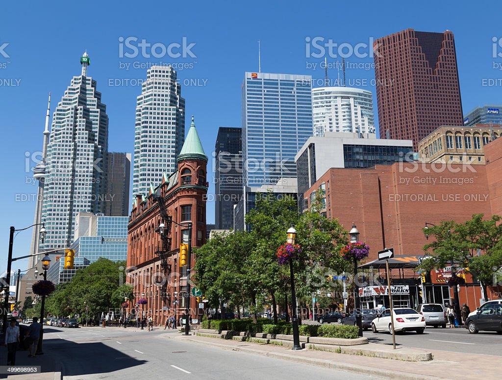 Front Street East Toronto stock photo