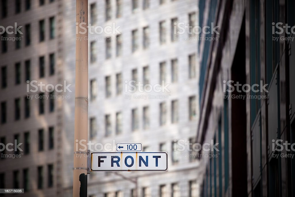 Front Street Sign, San Francisco stock photo