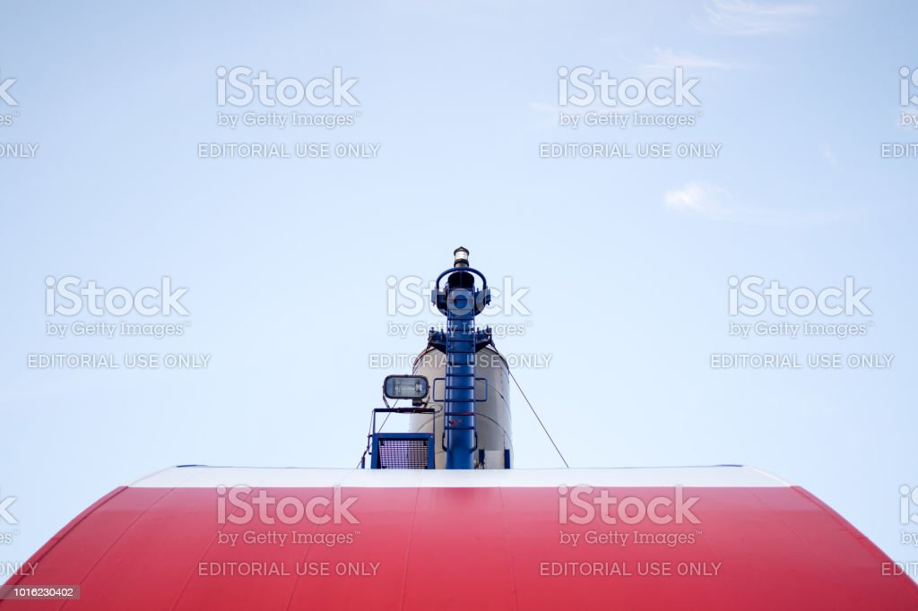 Front Top View Of Ships Funnel Stock Photo - Download Image Now - iStock