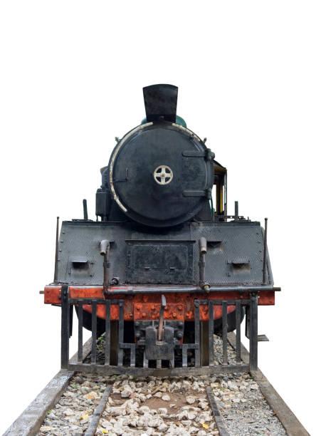 vordere zug lokomotive dampf vintage - lokomotive stock-fotos und bilder