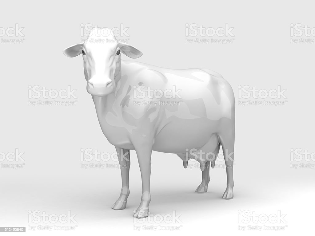 Front View Ceramic Cow stock photo
