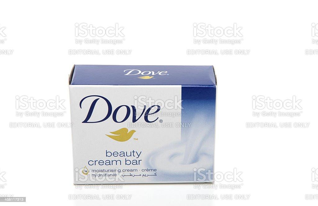 Front View Dove cream soap bar stock photo