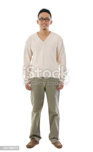 istock Front view full body Asian man 154186012