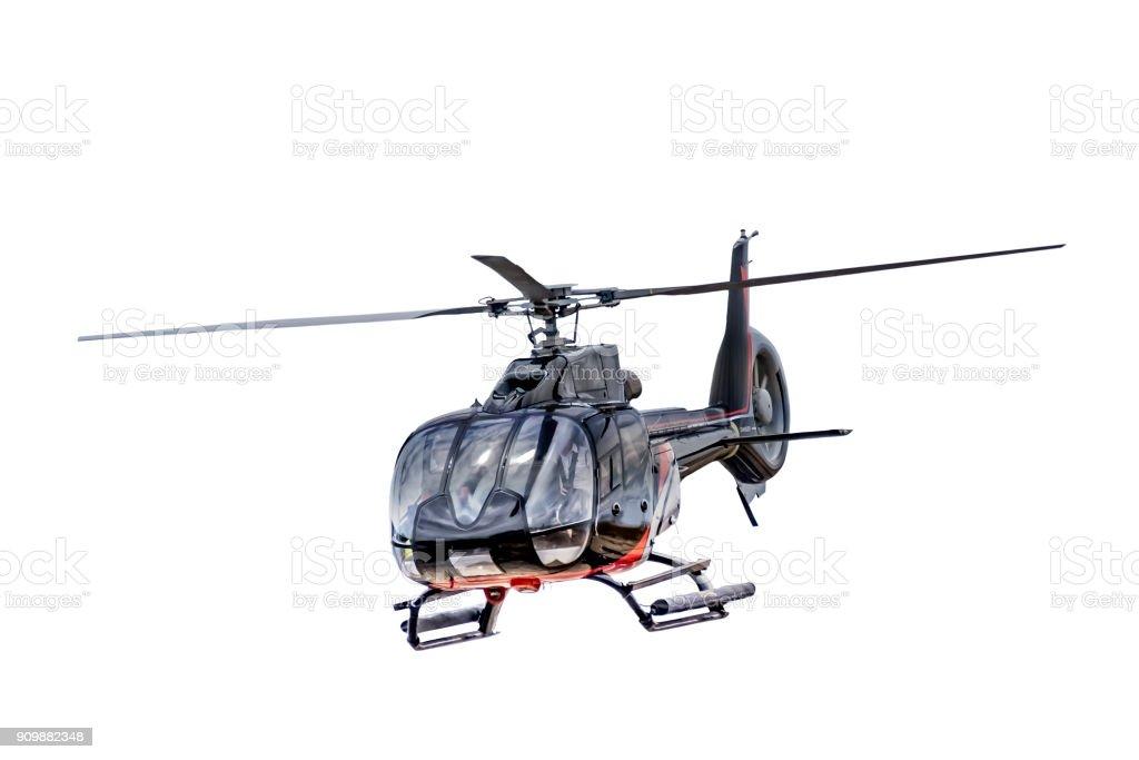 Vorderansicht Hubschrauber isoliert – Foto