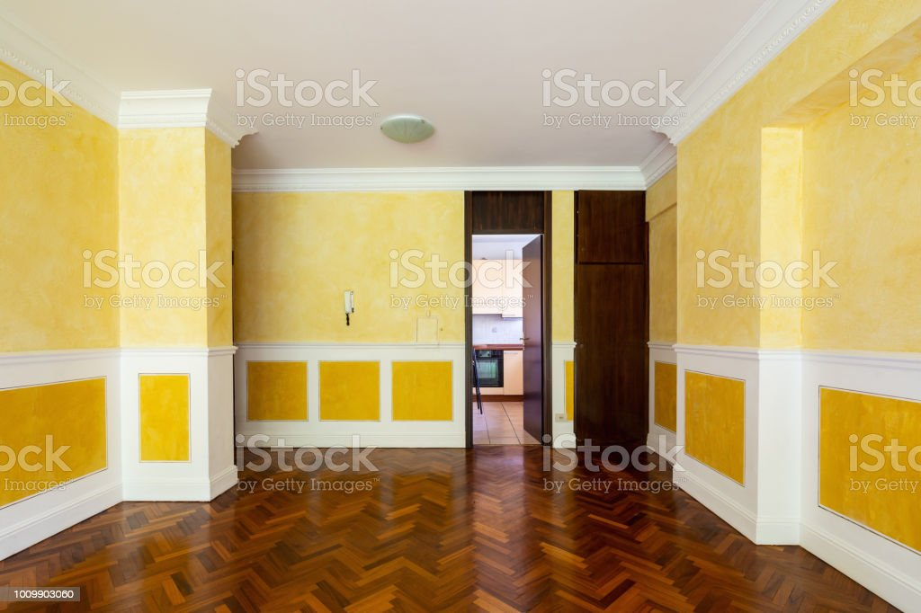 Front View Living Room With Door To Kitchen Stock Photo Download Image Now Istock