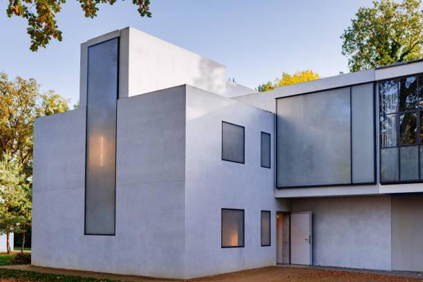 Façade de maison de maître de Feininger / Moholy-Nagy-Bauhaus de Dessau - Photo
