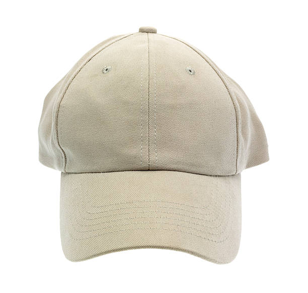 Front view of a baseball cap stock photo