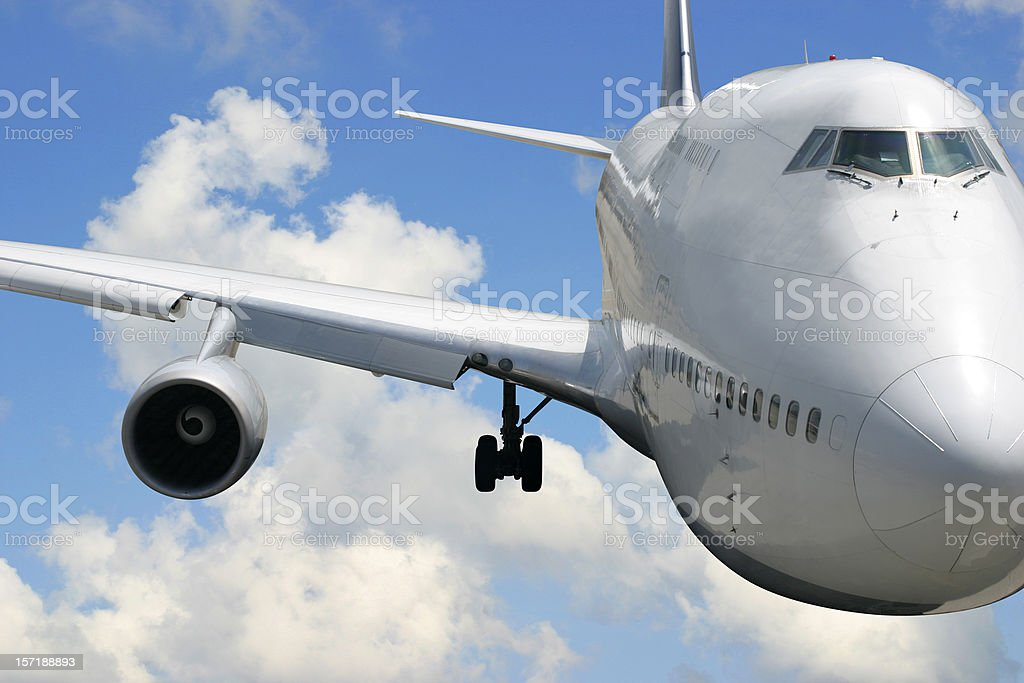 Front View of an Airplane royalty-free stock photo