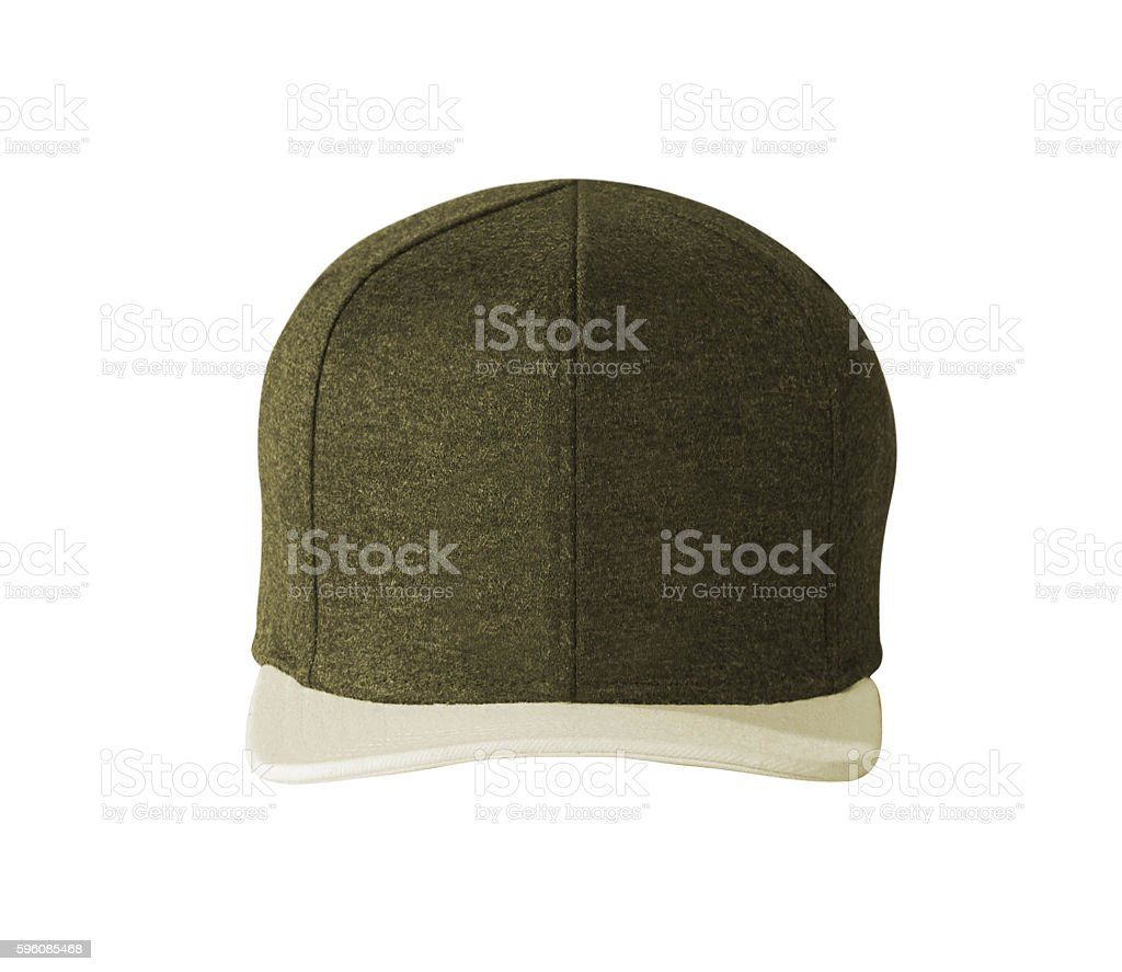 Front View of Cap Isolated on White royalty-free stock photo