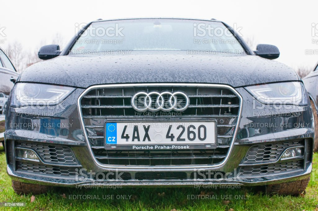 Front view of car Audi stock photo