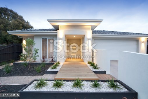 istock Front view of contemporary home in Australia 177102515