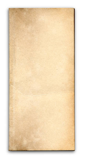 Vorderansicht des trashigen alten Blank Book Cover – Foto
