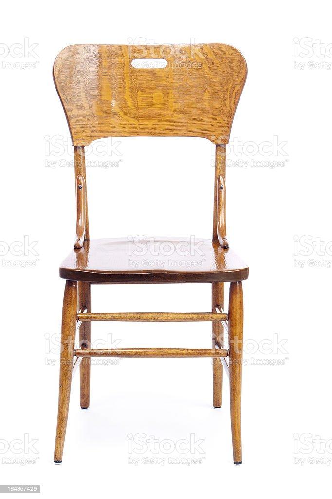 Des Hartholz Isoliert Oak Vorderansicht Stuhl Antik Auf PukTOiwXZ