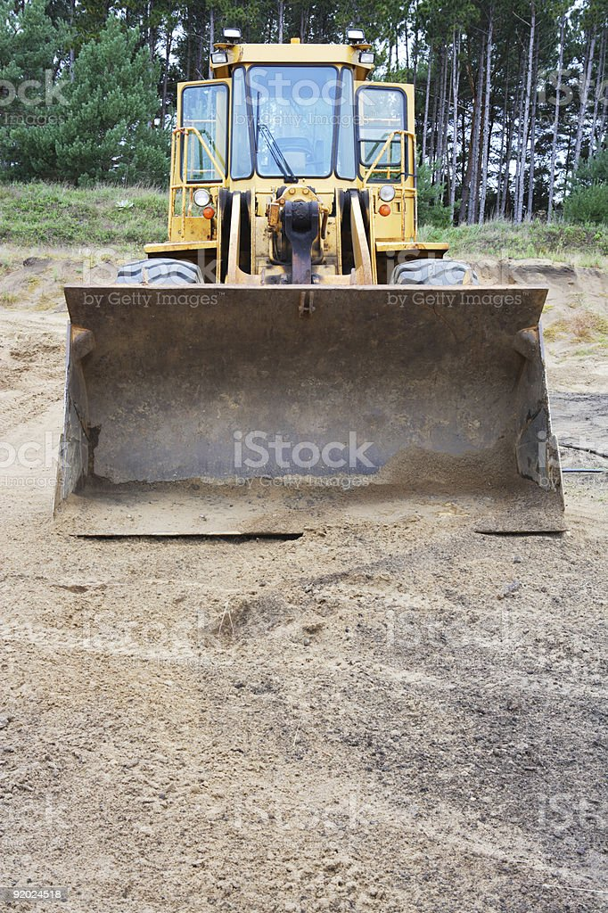 Front View of Heavy Payloader. royalty-free stock photo