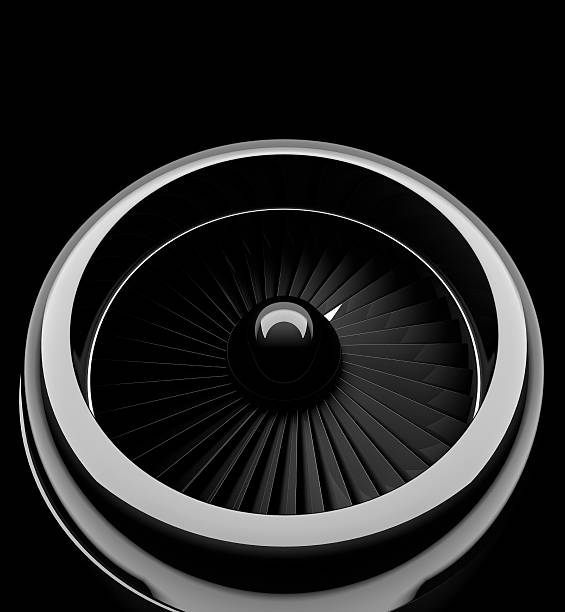 Front view of jet engine Front view of jet engine. 3d render propeller stock pictures, royalty-free photos & images