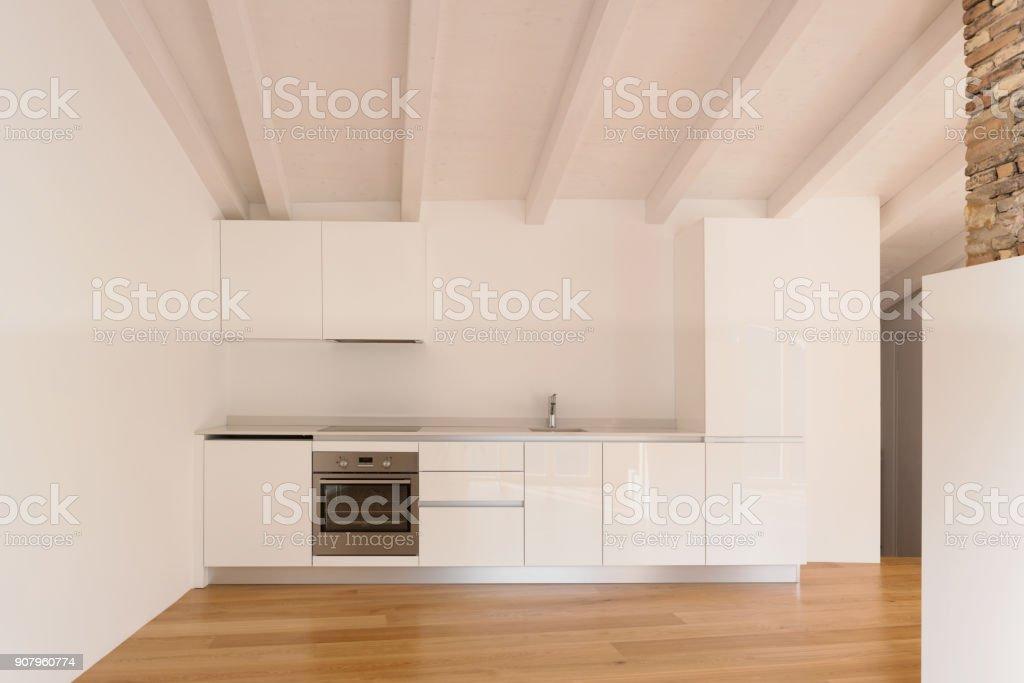 Vorderansicht der modernen Küche – Foto