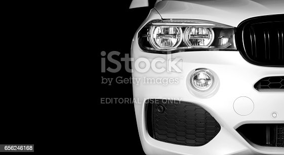 910009838 istock photo Front view of modern luxury sport car white exterior 656246168