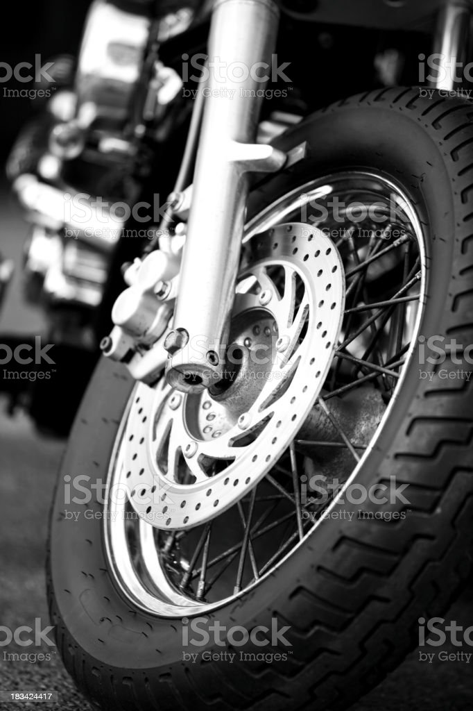 Front view of motorcycle stock photo