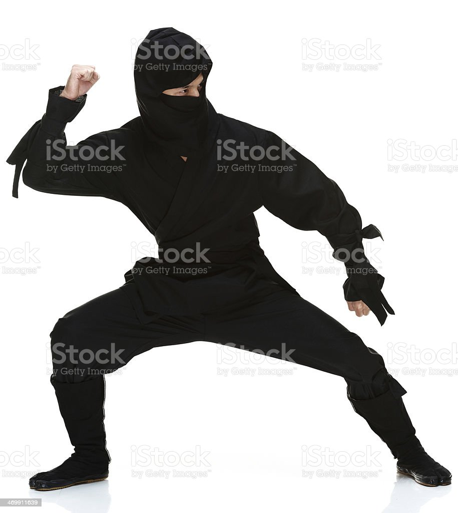 Front view of ninja stock photo