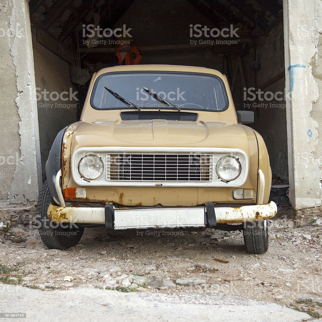 Front view of old car stock photo