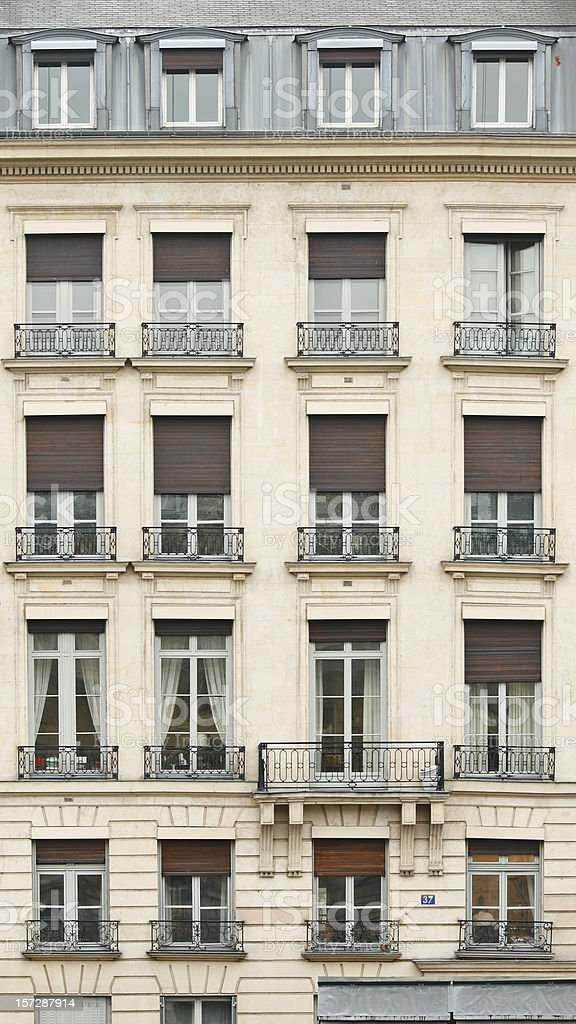 Front view of Paris architecture stock photo
