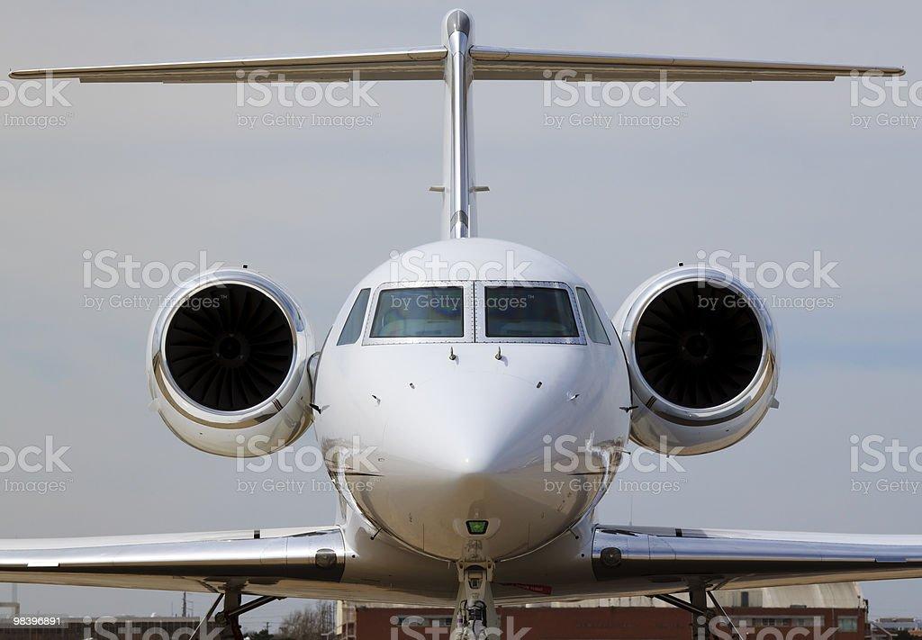 Vista frontale di un Jet privato XL foto stock royalty-free
