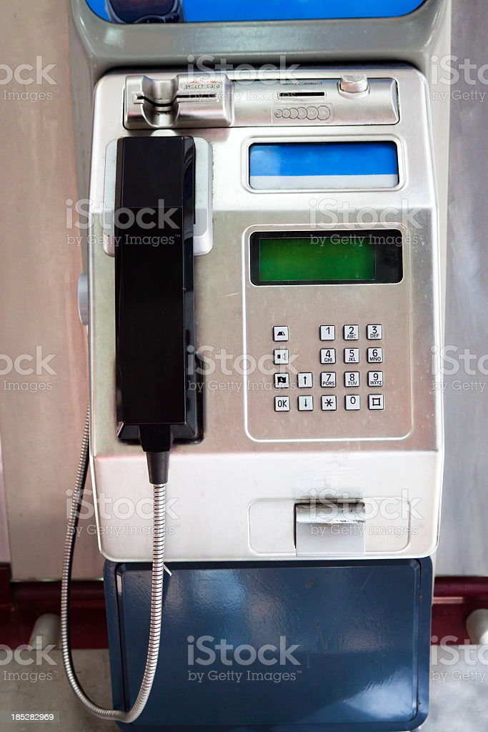 Front view of public pay phone royalty-free stock photo