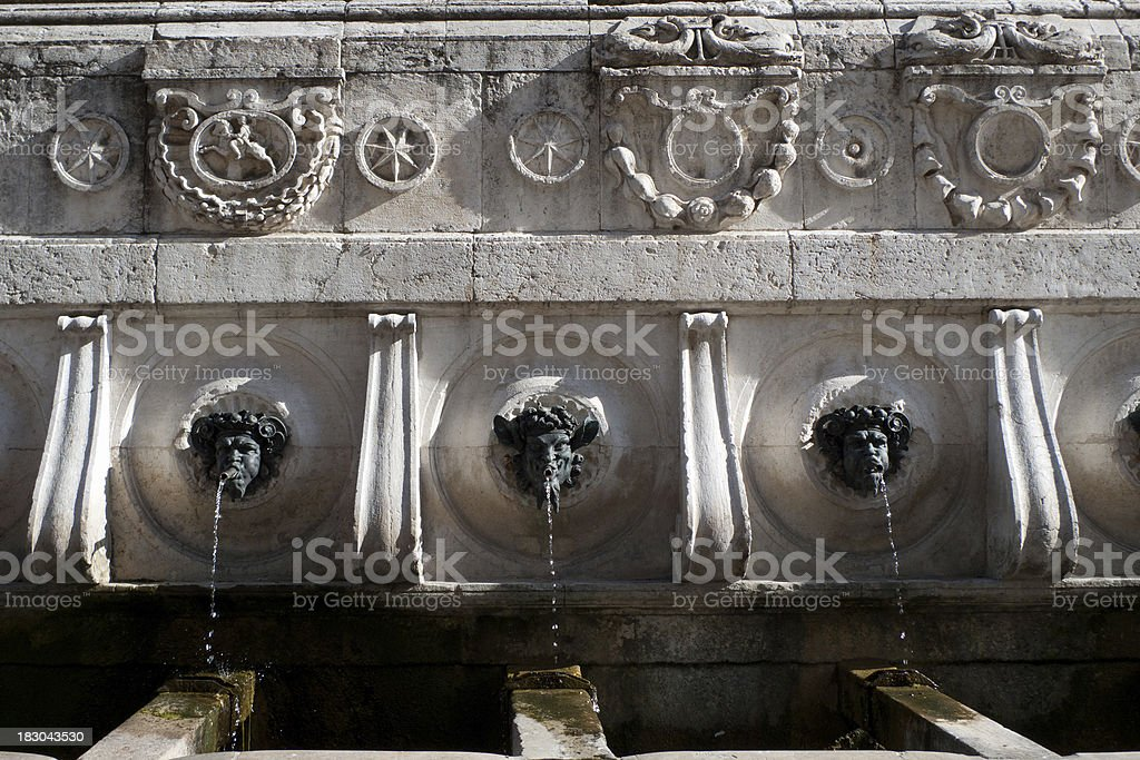 "Front view of ""Fonte del Calamo"" in Ancona royalty-free stock photo"
