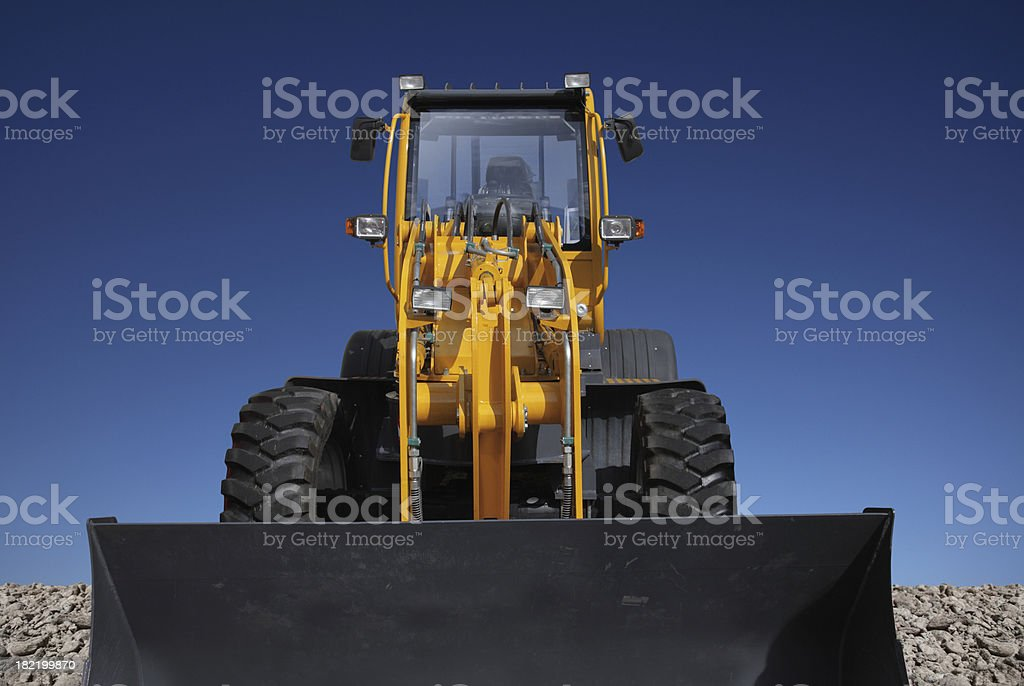 Front View of the Bulldozer royalty-free stock photo