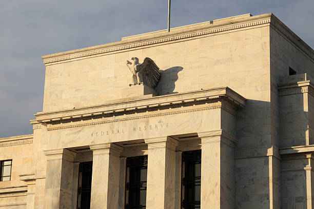 A front view of the Federal Reserve Bank