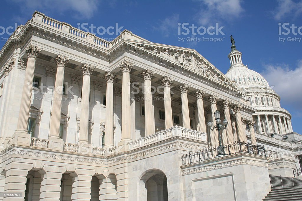 Front view of the House of Representatives stock photo