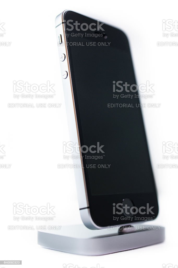 Front view of the new Apple iPhone SE stock photo
