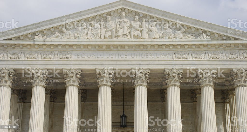 Front View of US Supreme Court royalty-free stock photo