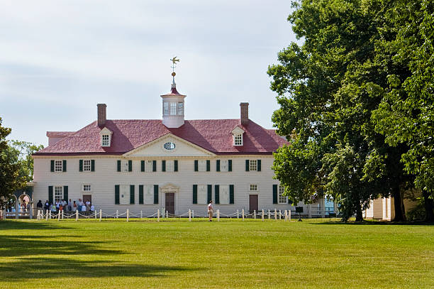 Front view of Washington's Mount Vernon Home stock photo