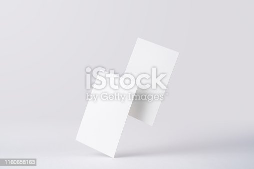 istock front view of white business card on white 1160658163